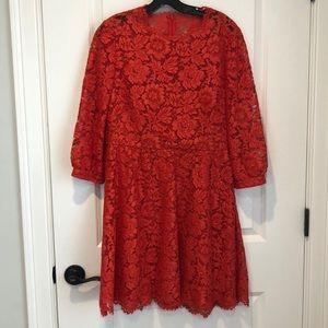 Valentino 3/4 Sleeve Lace Dress Size 10